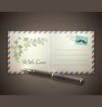 love letter envelope vector image vector image