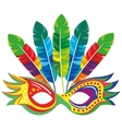 mask carnival celebration icon vector image
