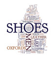 mens shoes text background word cloud concept vector image vector image