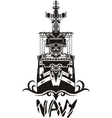 NAVY Military Design vector image vector image