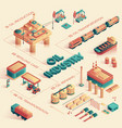 oil industry isometric 3d vector image vector image