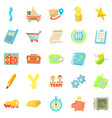 payment by card icons set cartoon style vector image vector image