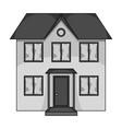 Private cottagerealtor single icon in monochrome vector image