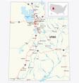 road map us state utah vector image vector image