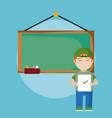 school boy with exam vector image