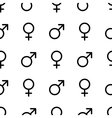 Seamless monochrome gender symbols pattern vector image vector image