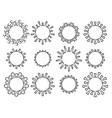 set biological virus icons coronavirus covid vector image vector image