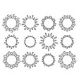 set biological virus icons coronavirus covid19 vector image