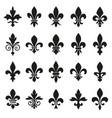 set of emblems fleur de lys symbols vector image vector image