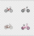 set of realistic symbols with cruise bicycle kid vector image vector image