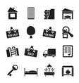 Silhouette Real Estate icons vector image vector image