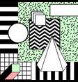 simple colorful geometric stylish background vector image