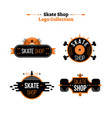 skate shop logo collection vector image