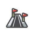 ski track resort icon cartoon vector image