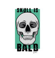 skull is bald for poster or graphic your goods vector image