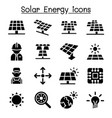 solar energy industrial icon set vector image vector image