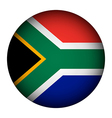 South Africa flag button vector image vector image