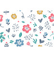 summer floral seamless pattern on white vector image