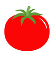 tomato with leaves icon red color vegetable vector image vector image