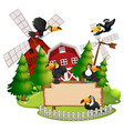 toucan in nature landscape vector image
