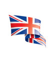 united kingdom flag on a vector image vector image