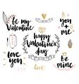 Valentines Day Lettering Design Set vector image vector image