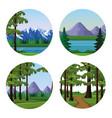 wanderlust landscapes cartoon vector image vector image