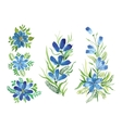 watercolor flowers in different styles vector image vector image