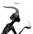 Zodiac sign capricorn fashion girl vector image vector image