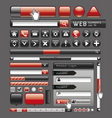 Blank red button for website and app vector image