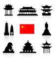 China Icon vector image