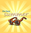 summer background with sunglasses vector image