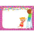 children decorating for a party vector image