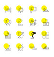 16 creative icons vector image vector image