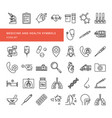 a set icons in a linear style on the vector image vector image