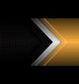 abstract gold silver arrow black circle mesh vector image vector image