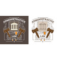 administrative lawauthority and government symbol vector image