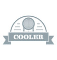 air cooler logo simple gray style vector image