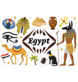 ancient magic egypt set icons objects collection vector image