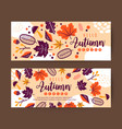 autumn leaves banner design template vector image