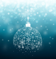 Ball from snowflakes vector image