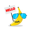 banana face cartoon vector image