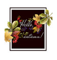 banner of happy autumn with yellow leaves vector image vector image