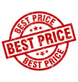 best price round red grunge stamp vector image vector image