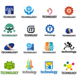 biggest collection of logos technology vector image vector image