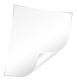 blank sheet vector image