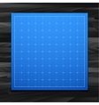 blue isolated square grid with shadow isolated vector image vector image