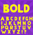 bold hand drawn alphabet vector image vector image
