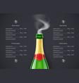 champagne wine bottle vector image