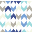 Chevron ikat seamless pattern vector image